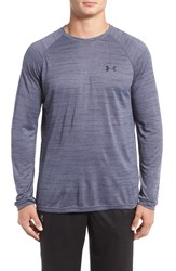 Under Armour Men's 'Ua Tech Tm ' Loose Fit Long Sleeve T Shirt Midnight Navy