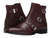 Calvin Klein Stark Oxblood Calf Leather Men's Boots Brown