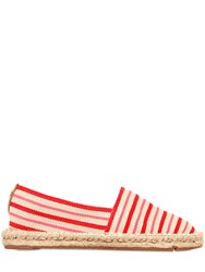 Tory Burch 20Mm Striped Cotton Canvas Espadrille