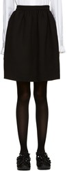 Msgm Black Circle Miniskirt