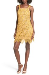 Wayf Women's 'Orleans' Embroidered Lace Cross Back Dress Gold