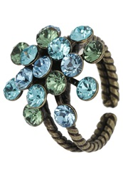 Konplott Magic Fireball Ring Blue Green