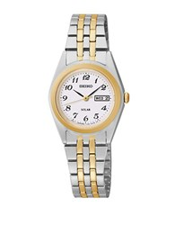 Seiko Functional Solar Two Tone Stainless Steel Link Bracelet Watch
