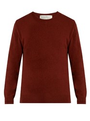 Gieves And Hawkes Crew Neck Cashmere Sweater Burgundy