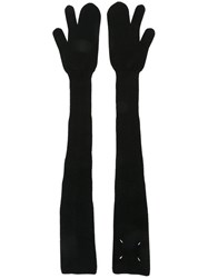 Maison Martin Margiela Long Length Knitted Gloves Black
