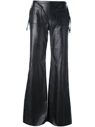 Maison Martin Margiela Mm6 Flared Trousers Black