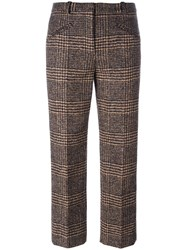 Sonia Rykiel Plaid Cropped Trousers Pink Purple