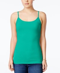 Planet Gold Juniors' Spaghetti Strap Camisole Emerald Stone