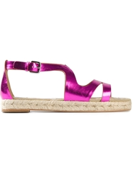 Stella Mccartney Metallic Espadrilles Sandals Pink And Purple