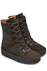 Yeezy Suede Boots With Mesh Brown