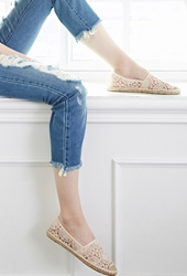 Forever 21 Embroidered Espadrilles Blush