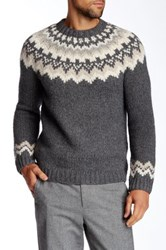 Vince Nordic Wool Blend Crew Neck Sweater Gray