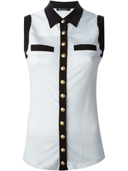 Balmain Sleeveless Shirt White
