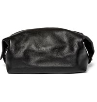 Polo Ralph Lauren Full Grain Leather Wash Bag Black