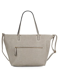 Saks Fifth Avenue Perforated Faux Leather Tote And Crossbody Set