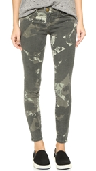 Current Elliott The Stiletto Jeans Army Green Watercolor Camo