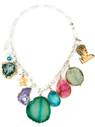 Katerina Psoma Stone Charm Necklace Multicolour