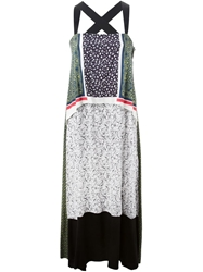 Toga Pulla Mixed Print Dress Green