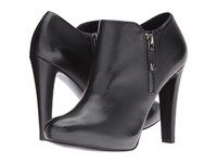 Nine West Binnie Black Leather Women's Zip Boots