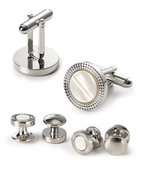 The Men's Store At Bloomingdale's Decorative Circle Stud And Cufflink Set