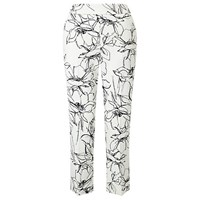 Marella Sigma Printed Cropped Trousers Wool White