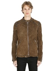 Giorgio Brato Vintage Washed Reversed Leather Jacket