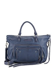 Liebeskind Esther Leather Satchel Midnight Blue