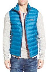Men's Patagonia Windproof And Water Resistant 800 Fill Power Down Sweater Vest Underwater Blue