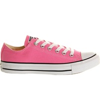 Converse All Star Low Top Trainers Pink Canvas