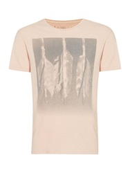 Label Lab Arrows Fade Out Graphic Print T Shirt Pink
