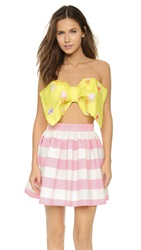 Re Named Ice Cream Bow Crop Top Pop Yellow
