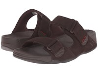 Fitflop Gogh Slide Adjustable Chocolate Brown Men's Shoes