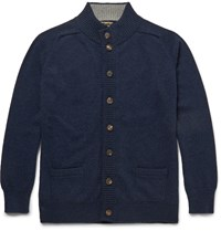 William Lockie Cashmere Cardigan Blue
