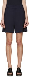 Chloe Navy Wool Shorts
