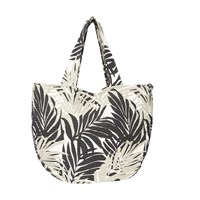 East Palm Leaf Print Bag Black