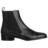 Lk Bennett L.K. Ronia Low Heeled Chelsea Boots Black Leather