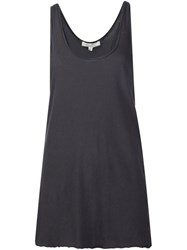 Nili Lotan Raw Hem Tank Top Grey