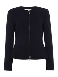 Hugo Boss Keralina Zip Through Textured Jacket Blue