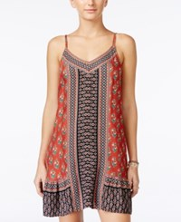 American Rag Printed Shift Dress Only At Macy's Burnt Orange Combo