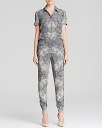 Twelfth St. By Cynthia Vincent Twelfth Street By Cynthia Vincent Jumpsuit Button Up Snake Print Silk