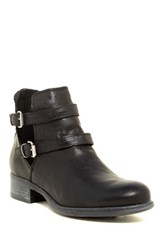 Manas Design Leather Double Buckle Strap Bootie Black