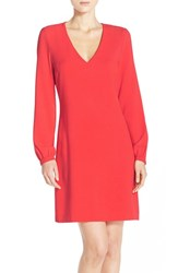 Women's Charles Henry Crepe A Line Dress Coral