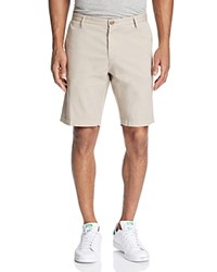 Boss Rice Stretch Cotton Shorts Beige
