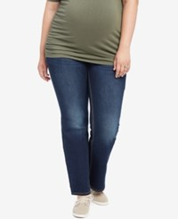 Jessica Simpson Plus Size Dark Wash Boot Cut Maternity Jeans