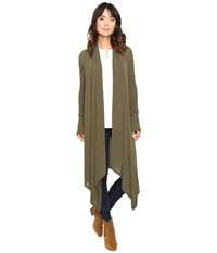 Culture Phit Carmen Wrap Shawl Olive Women's Sweater