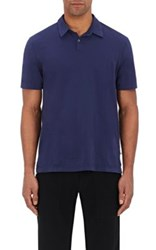 James Perse Men's Washington Cotton Polo Shirt Blue