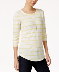 Maison Jules Striped Long Sleeve T Shirt Only At Macy's Sunray Combo