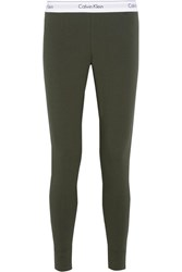 Calvin Klein Underwear Modern Stretch Cotton Blend Leggings Army Green