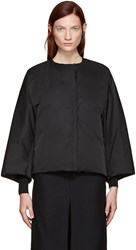 Jil Sander Reversible Black Collarless Jacket