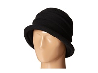 Scala Packable Wool Felt Cloche Black Caps